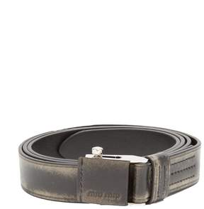 Miu Miu Distressed leather belt