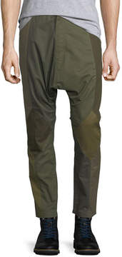 Mostly Heard Rarely Seen Patchwork Twill Dropped-Inseam Pants
