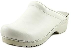 Sanita San Flex Open Back Round Toe Leather Mules.