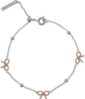 Olivia Burton Bow and ball silver & rose gold bracelet