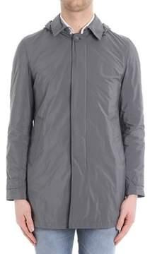 Herno Men's Grey Polyamide Trench Coat.