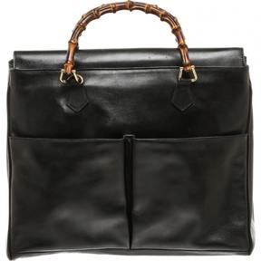 Gucci Bamboo leather tote - BLACK - STYLE