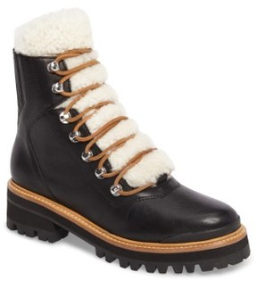 Marc Fisher Women's Izzie Genuine Shearling Lace-Up Boot