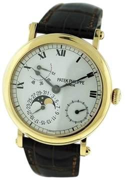 Patek Philippe Power Reserve 5054J Moonphase 18K Yellow Gold 37mm Mens Watch