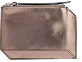 Maison Margiela Metallic Faux Patent-Leather Pouch