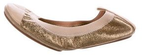 Yosi Samra Metallic Travel Flats