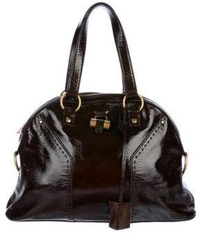 Saint Laurent Patent Leather Muse Tote