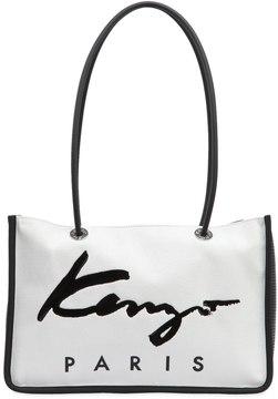 Kenzo Logo Nylon & Cotton Canvas Tote Bag