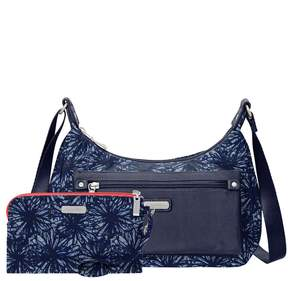 Baggallini Out And About Floral Bagg with RFID Wristlet