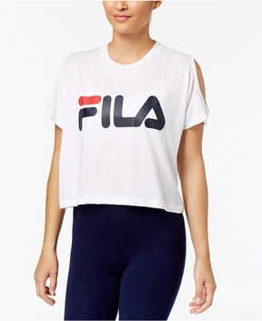 Fila Nikki Cold-Shoulder Cropped Top