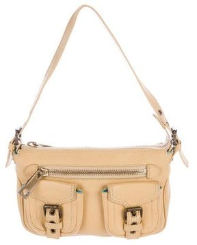 Marc Jacobs Leather Buckle Shoulder Bag - BROWN - STYLE