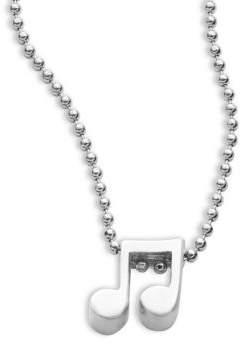 Alex Woo Little Rockstar Sterling Silver Double Note Necklace