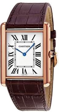 Cartier Tank Louis Manual Wind 18kt Rose Gold Men's Watch