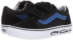 Vans Kids Old Skool V Bones/Black) Boy's Shoes