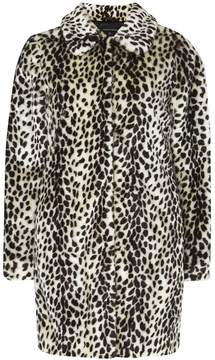 Dorothy Perkins Multi Coloured Leopard Print Faux Fur Dolly Coat