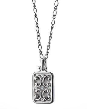 Monica Rich Kosann Rectangular Gate Locket Necklace