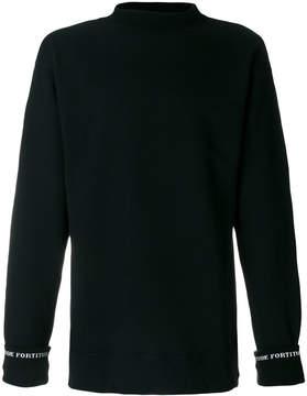 Miharayasuhiro cuff intarsia detail jumper