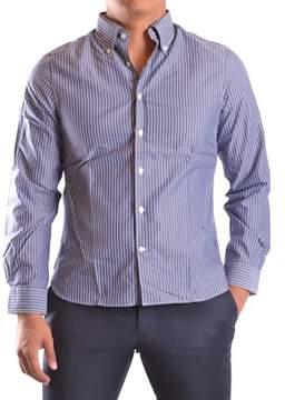Gant Men's White/blue Cotton Shirt.