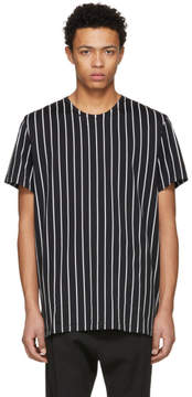 Haider Ackermann Black and White Perfusion Stripe T-Shirt