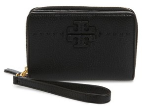Tory Burch Women's Mcgraw Leather Bifold Wallet - Black - BLACK - STYLE