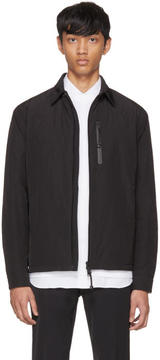 Prada Black Zip-Up Shirt Jacket