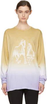 Baja East Tan and Purple Long Sleeve Freedom T-Shirt