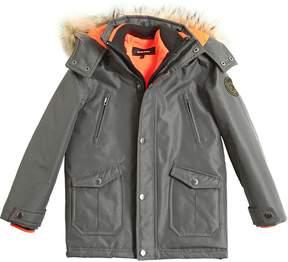 Diesel Taslan Hooded Nylon Parka W/ Faux Fur
