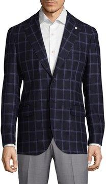 Lubiam Men's Printed Sportcoat