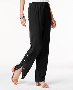 Bar III Side-Snap Soft Pants, Created for Macy's