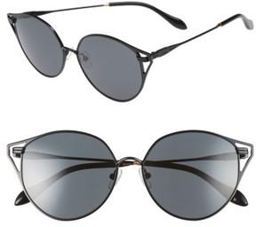 Sonix Women's Ibiza 55Mm Cat Eye Sunglasses - Black Wire/ Black Solid