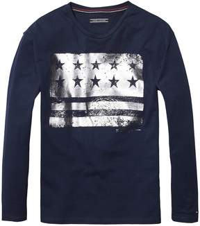 Tommy Hilfiger TH Kids Foil Flag Tee