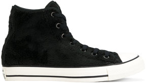 Converse faux fur hi-top sneakers