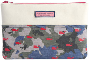 Vineyard Vines Camo Whales Clutch