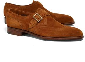 Brooks Brothers Edward Green Hove Suede Wingtip Monks