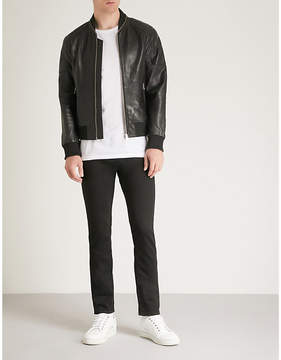 The Kooples Teddy-style leather jacket with a zip ar