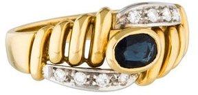 Damiani Two-Tone 18K Sapphire & Diamond Ring