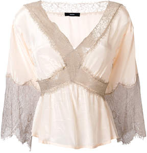 Diesel lace inserts blouse