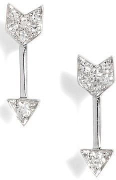 Ef Collection Women's Diamond Arrow Stud Earrings