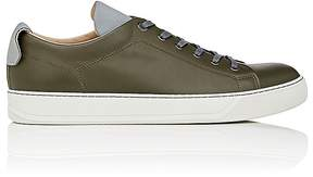 Lanvin Men's Reflective-Accented Leather Sneakers