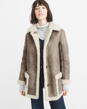 Abercrombie & Fitch Shearling Coat