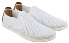 Steve Madden M-Crash6 Off White Fabric Mens Slip On Sneakers
