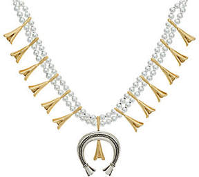 American West Sterling & Brass Bold SquashNecklace