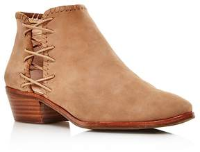 Jack Rogers Reagan Nubuck Leather Block Heel Booties