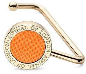 Aspinal of London Handbag Hook In Orange Lizard