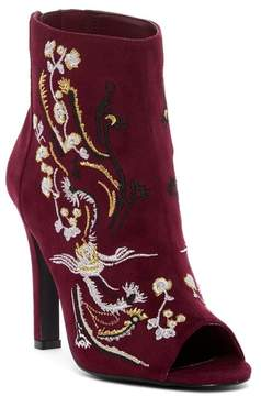 Carlos by Carlos Santana Rachelle Embroidered Peep Toe Bootie