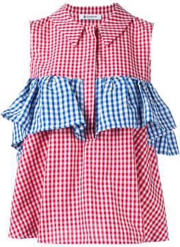 Dondup checkered ruffle blouse