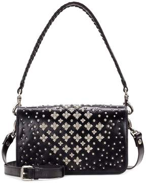 Patricia Nash Discovery Collection Floral Stud Molise Saddle Bag