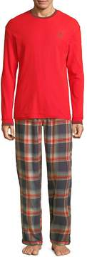 Psycho Bunny Men's Plaid Pajamas
