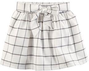 Carter's Toddler Girl Bow Front Windowpane Plaid Skirt