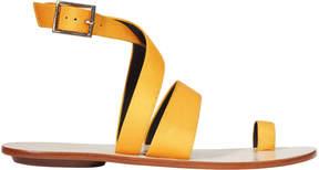 Tibi Hallie Yellow Toe Ring Sandals